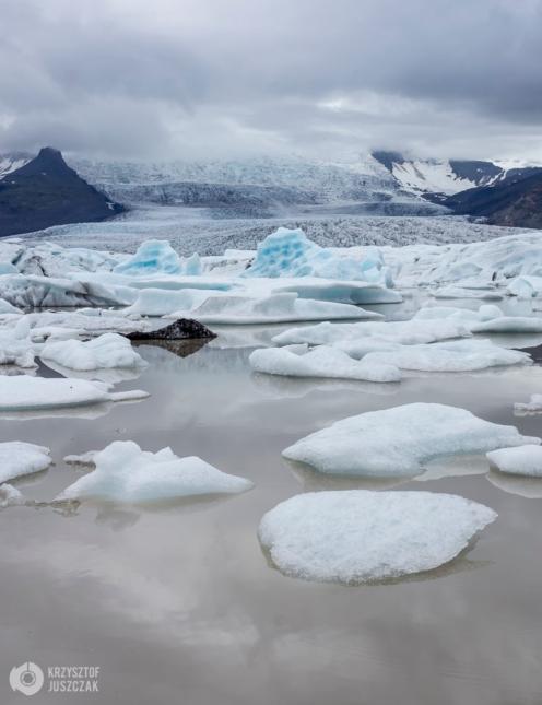 Fjallsárlón - jezioro lodowcowe.